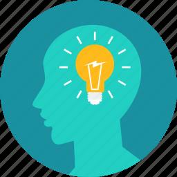 brain, business, design, idea, think icon