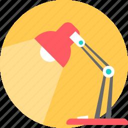 bulb, desk, lamp, light, study icon