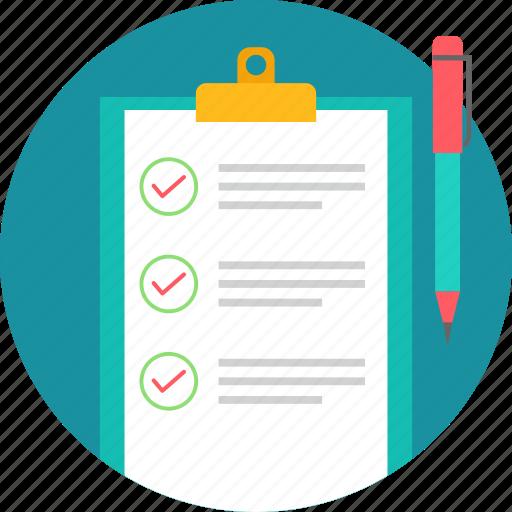 business, checklist, list, points, tick, tickmark icon
