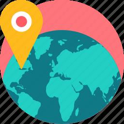 globe, gps, location, map, navigation, world icon