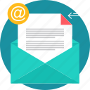 communication, email, inbox, letter, mail, message icon