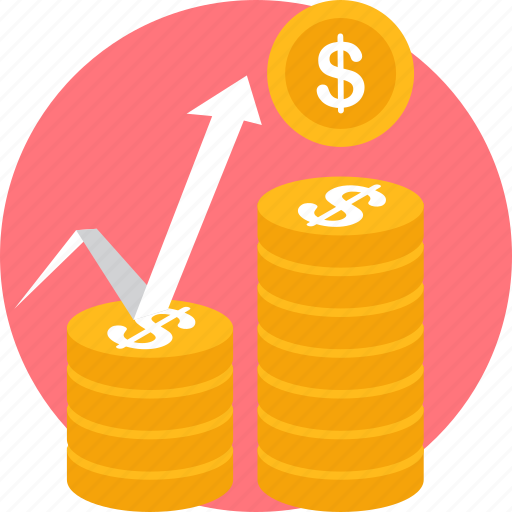 currency, growth, market, money, payment, revenue, sales icon