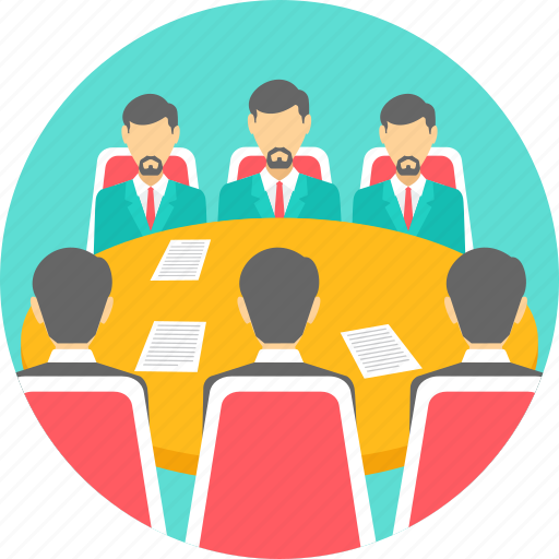 business, conference, conversation, meeting, team icon