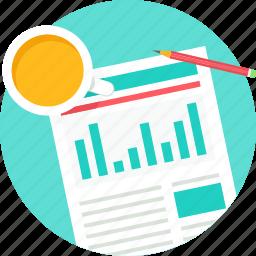 business, plan, report, strategy, tea break icon