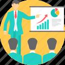 presentation, report, board, explaination, explain, meeting