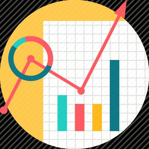 analysis, data, graph, growth, progress, report icon