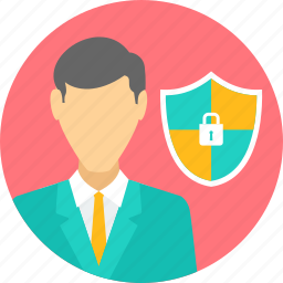 employee, protection, security, shield icon