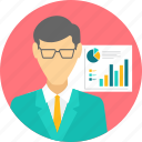 analytics, document, page, presentation, report, spects, statistics icon