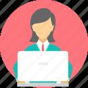 woman, female, lady, laptop, business, employee