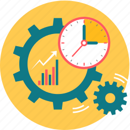 plan, planning, process, schedule, timer icon