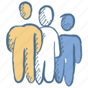 business man, employer, job, man, people, recruitment, team work icon