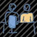employment, interview, meeting, recruitment, teamwork icon