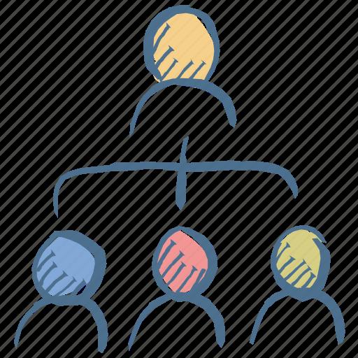 building, management, relationship, team, work icon