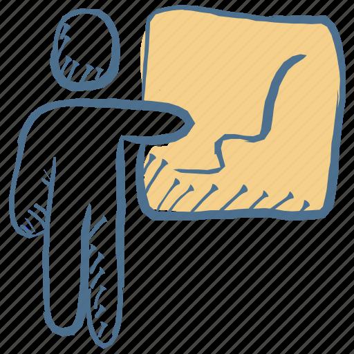 business presentation, lecture, modern, presentation, seminar, training icon