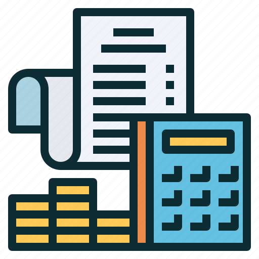accounting, budget, calculator, financial, payment, receipt icon