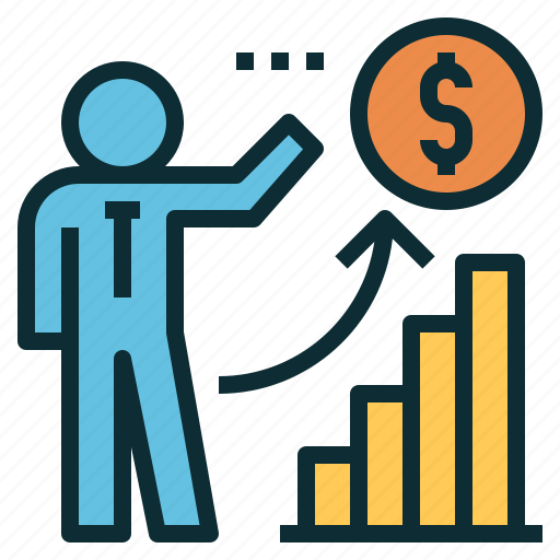 chart, coin, financial, graph, investment, planning icon