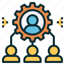 employee, heirarchy, management, organization, staff, team icon