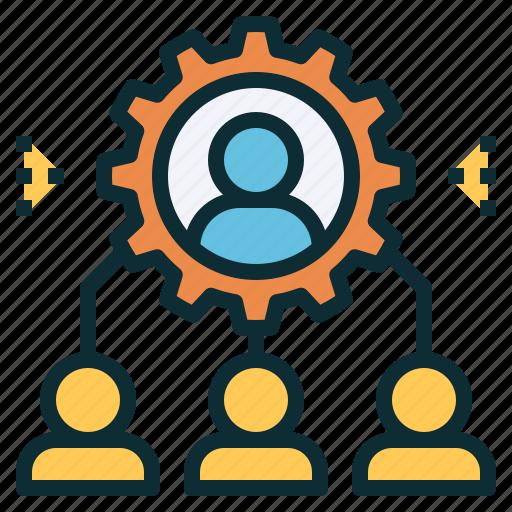 employee, heirarchy, management, organization, staff, team icon