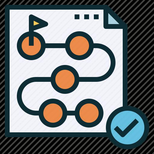 establish, method, path, plan, program, timeline icon
