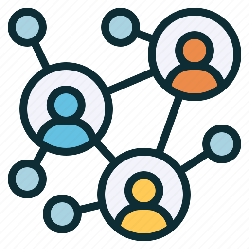 community, networking, people, relationship, social, teamwork icon