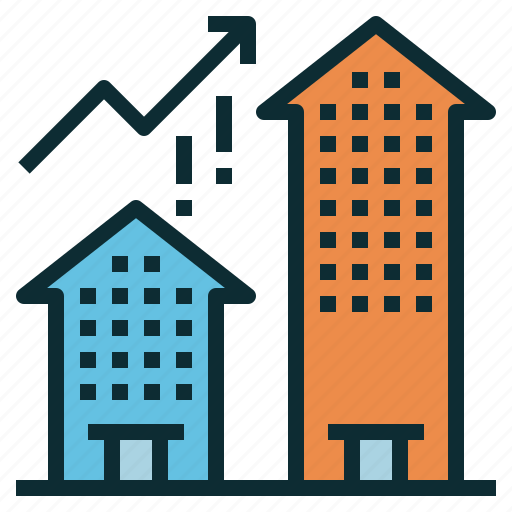 company, expand, growth, organization, performance icon