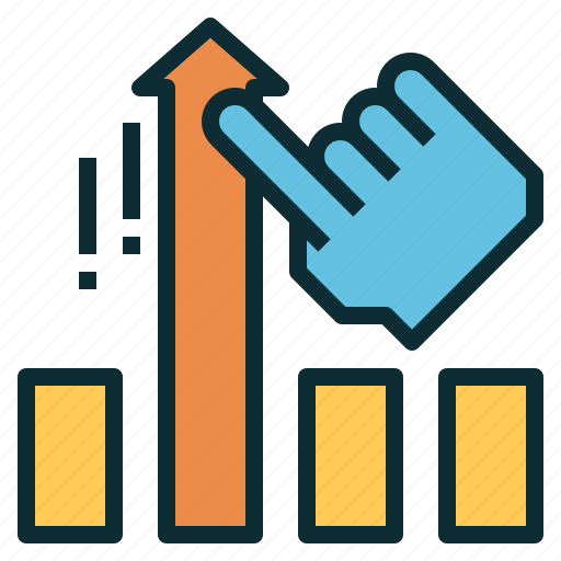 growth, hand, improvement, lift, performance, raise icon