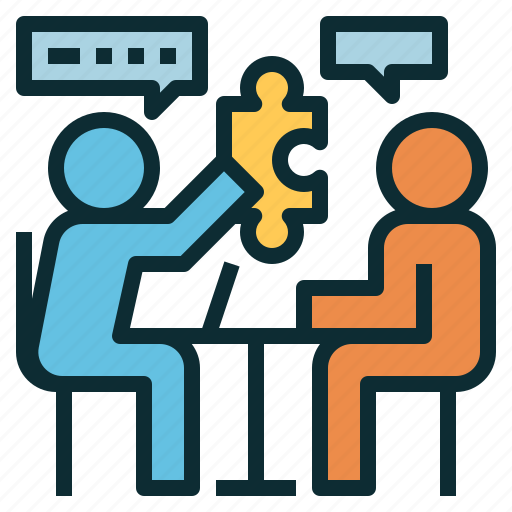 meeting, problem, puzzle, solution, solving, sonsulting icon