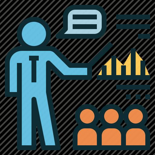 coaching, lecture, presentation, teaching, training icon