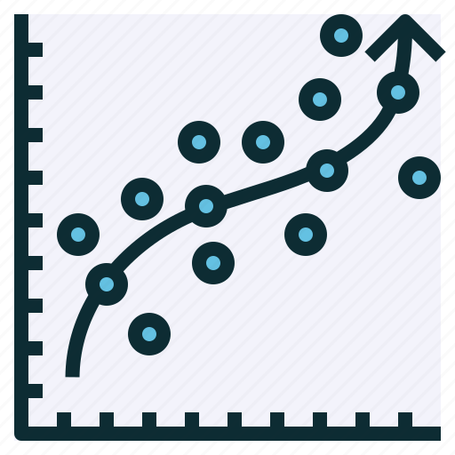 analysis, prediction, regression, stat, trend icon