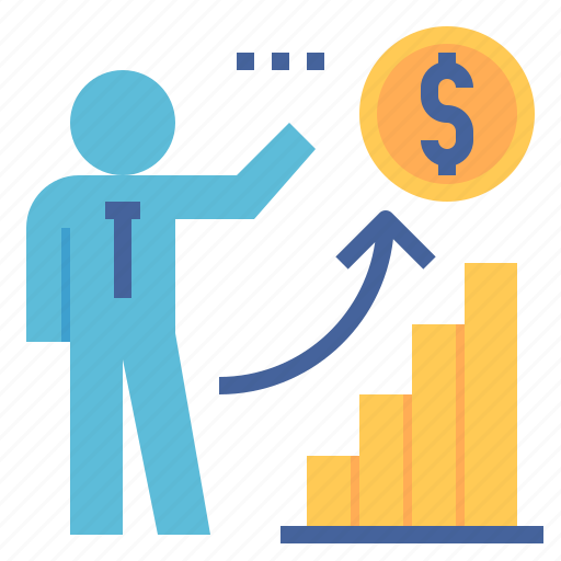 chart, coin, dollar, financial, graph, investment, planning icon