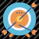 aim, archery, arrow, focus, goal, target icon