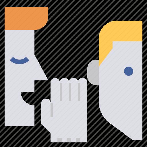 lobbying, mouth, secret, storytelling, whispering, word icon