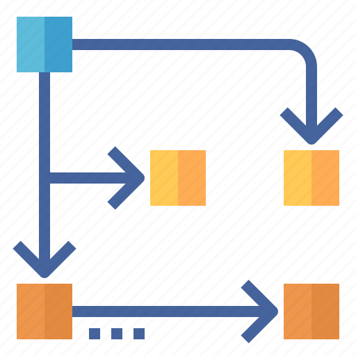 chart, flow, planning, process, workflow icon