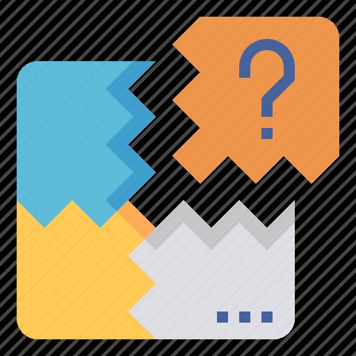 big, picture, piece, problem, puzzle, solving icon
