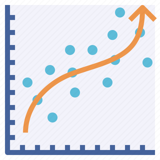 analysis, prediction, regression, stat, trend icon