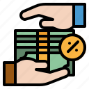 bills, business, currency, exchange, notes icon
