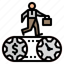 bag, cost, gear, management, money icon