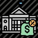 bag, business, money, tax, vat icon