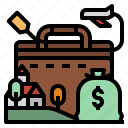 cost, flight, money, plane, travel icon