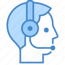 customer, man, people, phone, support, team, telephone icon
