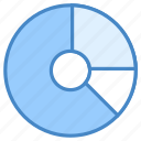 analysis, chart, document, doughnut, growth, infographic, report icon