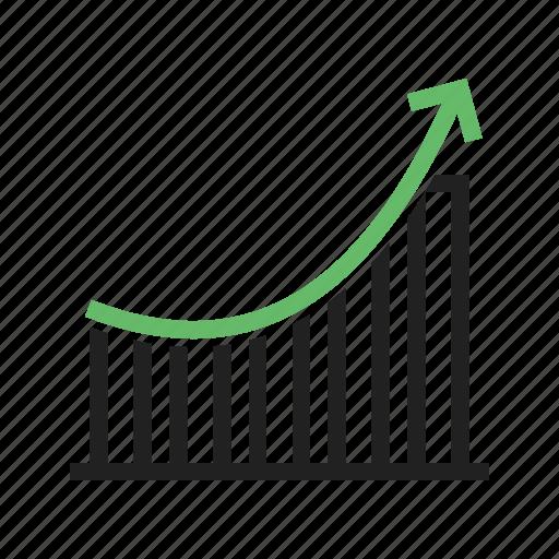 bar, business, chart, charts, graph, growth, progress icon