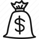 bag, dollar, finance, money icon