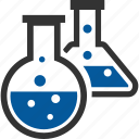 experiments, flasks, jar, lab, laboratory, science icon