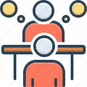 appointment, rede, advice, conference, counsel, consultation, deliberation icon