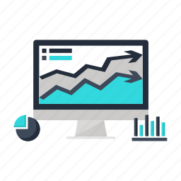 analytics, business, desktop, forecast, graph, marketing, pc icon