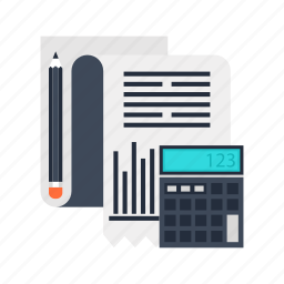 accounting, analytics, business, calculator, finance, marketing, report icon