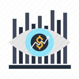 business, eye, finance, forecast, marketing, view, vision icon