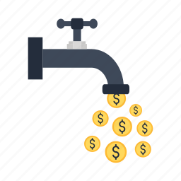 business, cash, dollar, finance, flow, income, money icon