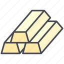 business, economy, finance, gold, pastel icon